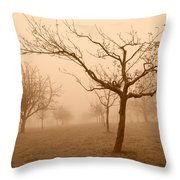 Fields Of Trees Throw Pillow