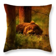 Fiercely Tired Throw Pillow