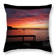 Fiery Afterglow Throw Pillow