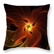 Fiery Throw Pillow by Amanda Moore