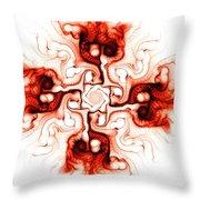 Fiery Cross Throw Pillow by Anastasiya Malakhova