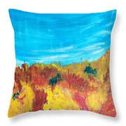Fiery Fall In The Hills Throw Pillow
