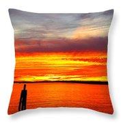 Fiery Fall Sunset Throw Pillow