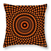 Fiery Floral Pattern Throw Pillow
