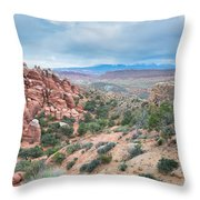 Fiery Furnace Viewpoint - La Sal Mountains - Arches National Park - Ut Throw Pillow