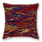 Fiery Lava Flow Abstract Throw Pillow by Karon Melillo DeVega