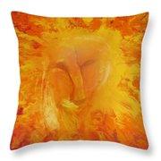Fiery Love Throw Pillow