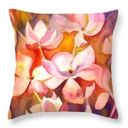 Fiery Magnolias Throw Pillow