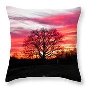 Fiery Oak 2 Throw Pillow