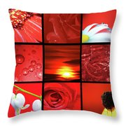 Fiery Red Throw Pillow