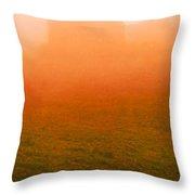 Fiery Sunrise On The Farm Throw Pillow