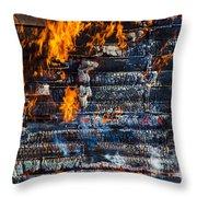 Fiery Transformation Throw Pillow