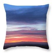 Fiery Winter Sunset  Throw Pillow