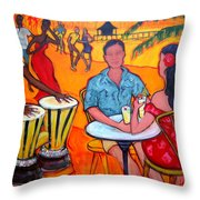 Fiesta At The Beach Throw Pillow