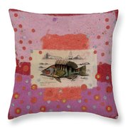 Fiesta Fish Collage Throw Pillow