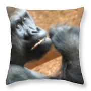 Fiesta Gorilla Throw Pillow