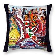 Fiesta Parade Throw Pillow