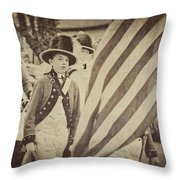Fife And Drum Corp Throw Pillow