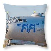 Fifi - Nose Art Throw Pillow
