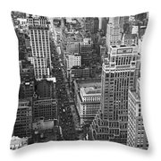 Fifth Avenue In New York City. Throw Pillow