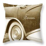 Fifties Buick Throw Pillow