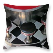 Fifties Diner Detail Throw Pillow