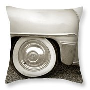 Fifties Plymouth I I Throw Pillow