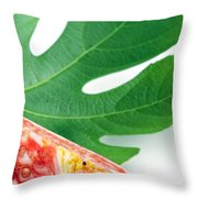 Fig And Leaf Throw Pillow