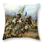 Fight For The Banner Throw Pillow by Victor Mazurovsky
