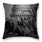 Fight In Washington Throw Pillow