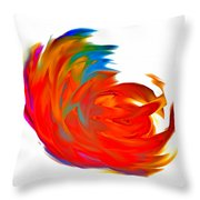 Fight Of Colors Throw Pillow