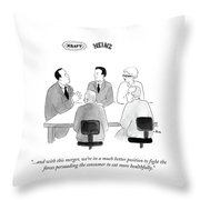 Fight The Forces Persuading The Consumer To Eat Throw Pillow