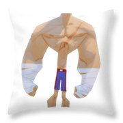 Fighter Throw Pillow by Adam Ford