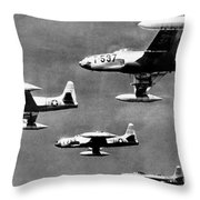 Fighter Jet Against Communists Throw Pillow