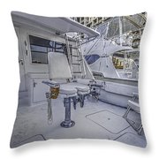 Fighting Chair Throw Pillow