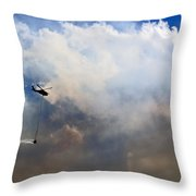 Fighting Fire Throw Pillow