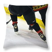 Fighting For The Puck Throw Pillow