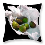 Figs In A Napkin Throw Pillow