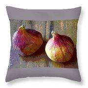 Figs Still Life Pop Art Throw Pillow