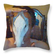 Figure Animal Skull 1 12 2011 Throw Pillow