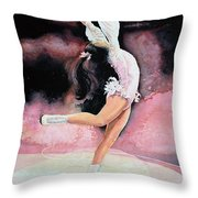 Figure Skater 20 Throw Pillow by Hanne Lore Koehler
