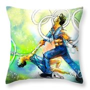 Figure Skating 01 Throw Pillow