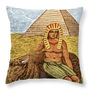 Figure Symbolizing Egyptian Throw Pillow by Getty Research Institute