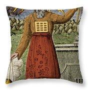 Figure Symbolizing Judaism Throw Pillow