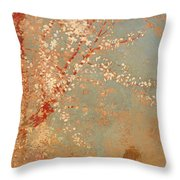 Figure Under A Blossoming Tree Throw Pillow