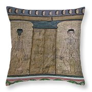 Figures Used To Teach Thai Massage In Wat Po In Bangkok-thailand Throw Pillow