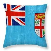 Fiji Flag Throw Pillow
