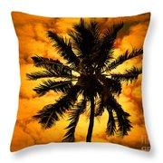 Fijian Sunset Throw Pillow