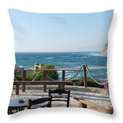 Fiki Cafe Throw Pillow