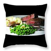 Filet Mignon Throw Pillow